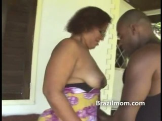 Brazilian milf ass worshipped by black dude with a big cock
