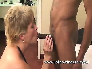 Interracial swinger lovers