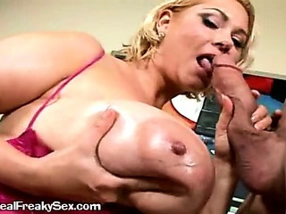 A Lonely Mature Woman Sucking A Large Cock