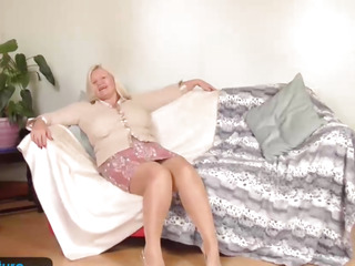 Breasty granny Lacey has moist love tunnel by EuropeMature