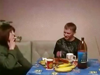Russian Mature Mom and Son Sex