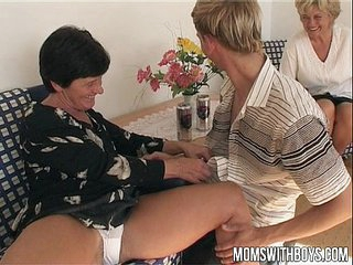 Mature Ladies Teaches A Young Boy With Sex Education