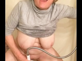 62 year old grandma huge tits masturbating