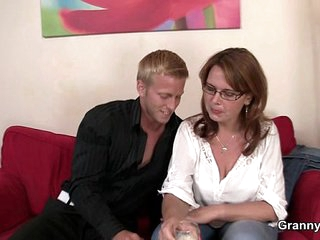 Busty mature bitch is picked up and fucked