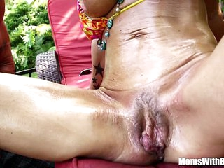 Oiled-Up Photoshoot And Creampie With MILF Kristal Summers
