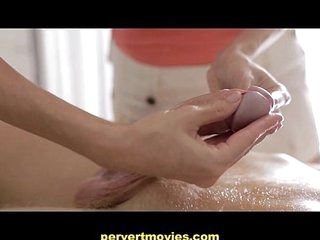 Pervertmovies- Milf massages young Boy and gets Fucked