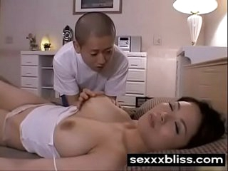 Japanese sleeping mom Miki Sato and young boy (part 1) at SexXxBliss.com