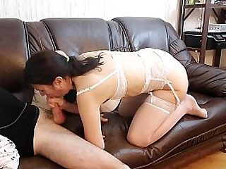 PERVY MATURE STEP-MOM BLOWS STEP-SON
