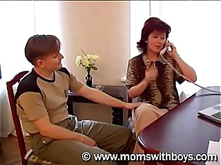 russian mature mom and young boy